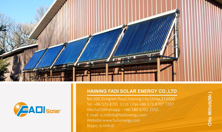 Color steel flat plate solar water heater (high pressure)