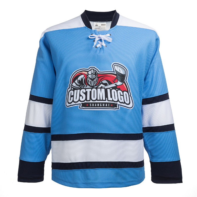 100% Polyetser Embroidery Blue Pittsburgh Penguin Ice Hockey Jersey