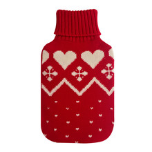 Tiger pattern printed fleece cover for rubber hot water bottle wholesale