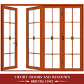 wooden mosquito net single swing glass door design