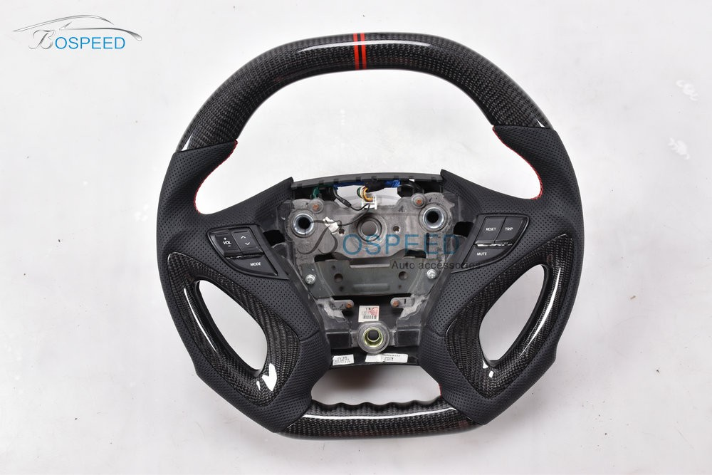2017 most popularCarbon Fiber racing car steering wheel for Hyundai Sonata