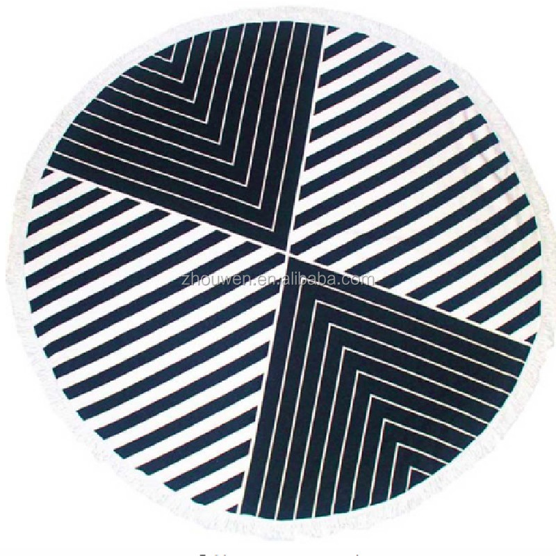 clearance beach towel Black and white bulk round mat