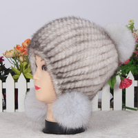 2016 MHT-004 new fashion warm mink fur hat