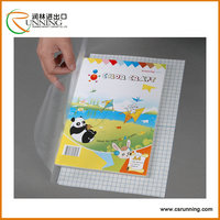Color PVC Plastic Book Cover Sheet Film A4
