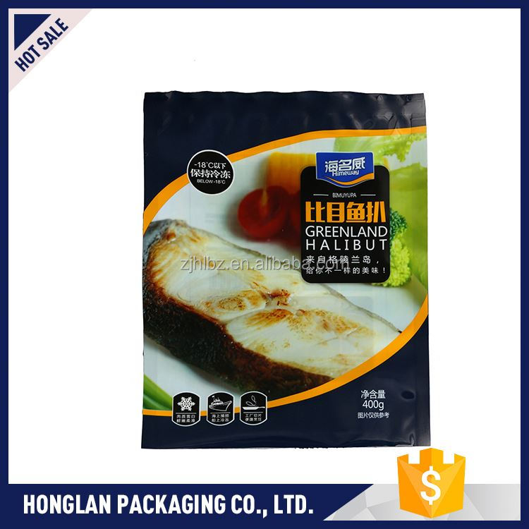 New coming high quality packaging plastic bag for frozen food