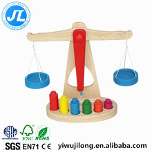 wooden balance scale set montessori mathematics teaching kindergarten children early education weighing toys