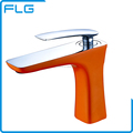 Single Hole Orange Color Tap Basin Faucet Wash Basin