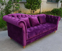 Luxury French Baroque Sofa Collection Royal Living Room Furniture/Exquisite Wooden Hand Carved Chesterfield Sofa