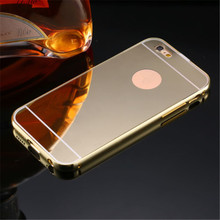JESOY Luxury Metal Aluminum Mirror Back Cover <strong>Case</strong> For Gionee F103