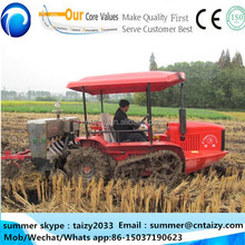 paddy field 70hp boat tractor, rice farming tractor