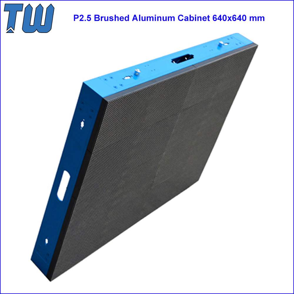 LED Video Wall Project Brushed Aluminum Cabinet HD High Resolution P2.5 LED Module 64x64 Pixels