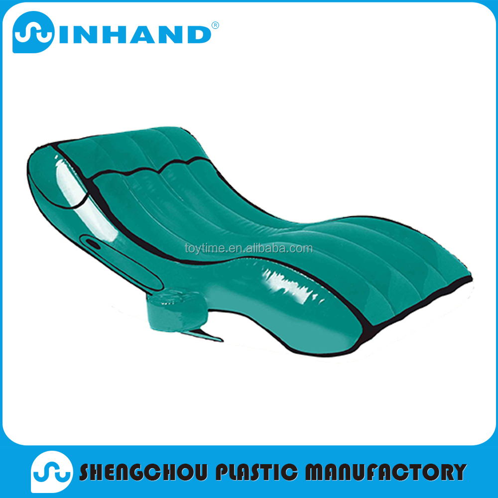 ICTI pvc inflatable pool lounge chair , inflatable recliner chair