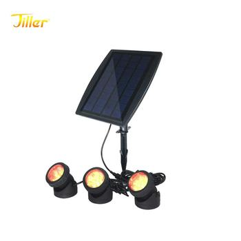 Waterproof Security lamps LED Solar pond underwater tank Spot lights Outdoor Gardens Solar powered Pool lights