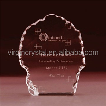 3D laser Engraving crystal block iceberg trophy with customized logo for souvenirs