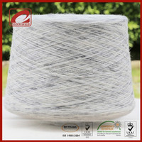 fancy 60% wool 40% silk wool blend yarn in tape effect