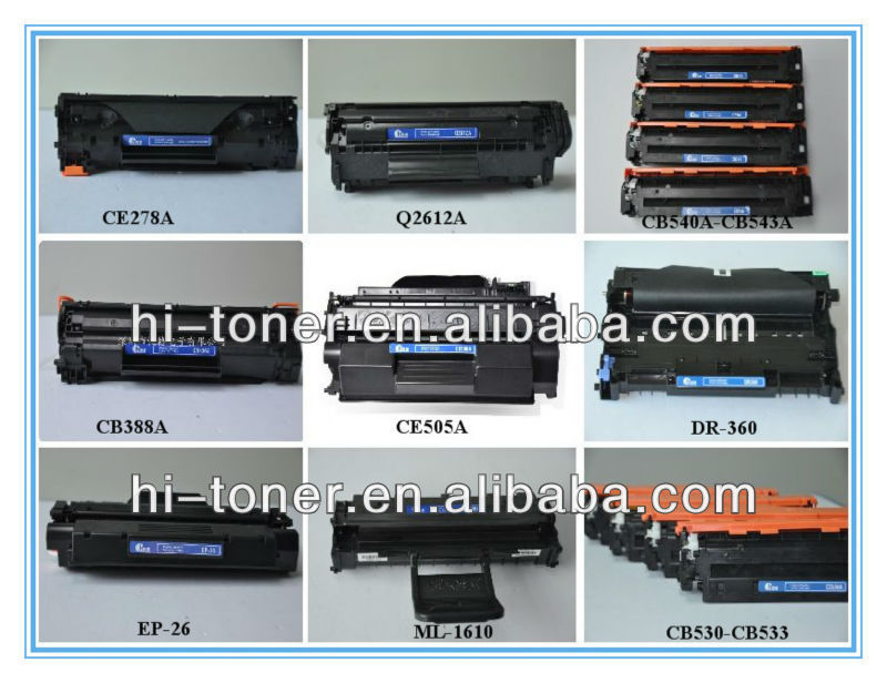 Toner Cartridges Q2612A for use in HP Laser Printer