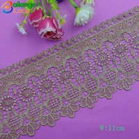 2015 new fashion Top sell Textile Embroidered lace french nail tips for garment