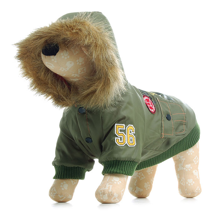 New winter dog clothes pet apparel green&black coat wholesale china