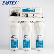 EMTEC 75GPD 5 stage Household Drinking Ro Reverse Osmosis Water Filter Purifier System with indicator with pump with tank