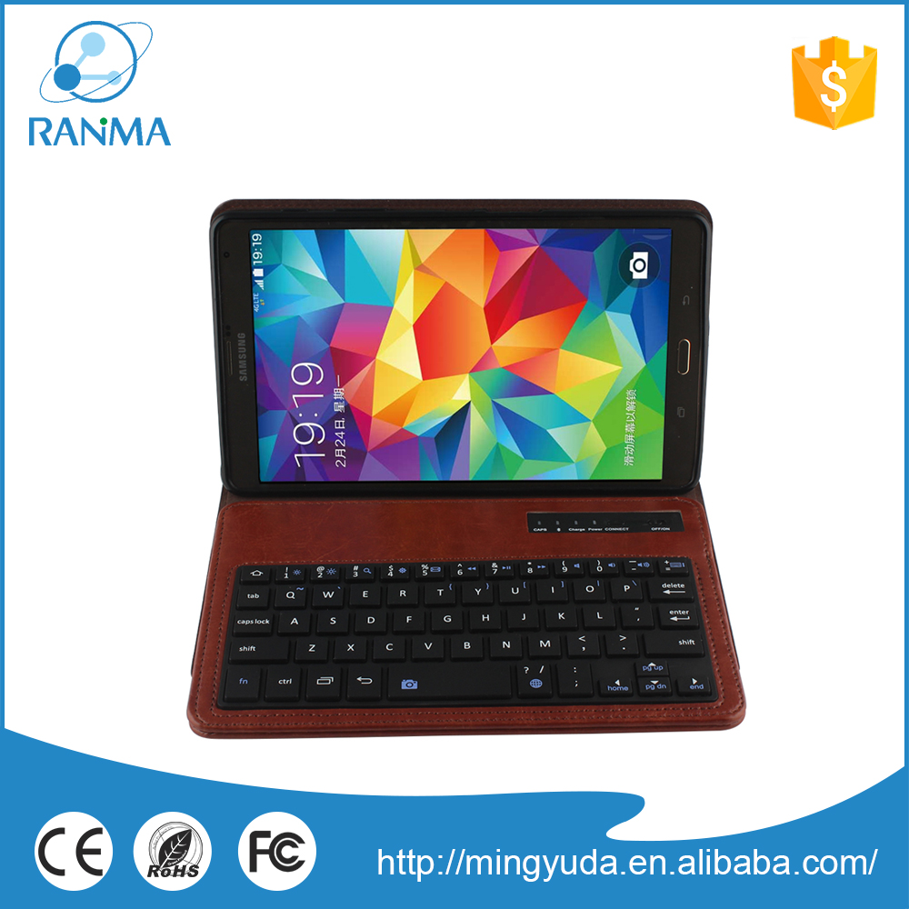 Protective bluetooth tablet pc keyboard case for samsung Tab S 8.4