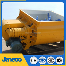 JS1000C twin shaft concrete mixer