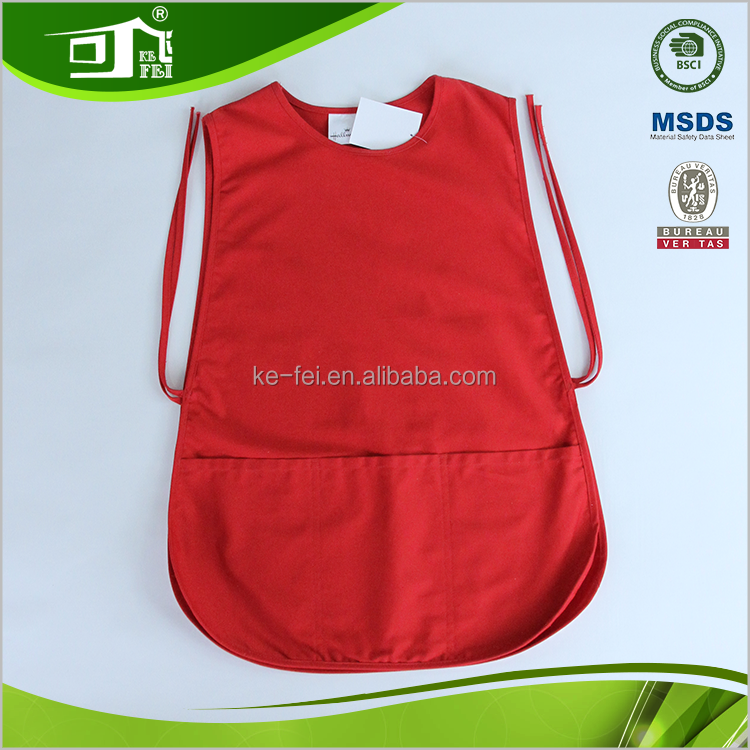 100% Cotton Custom Vest Uniform Garden Apron With Pockets