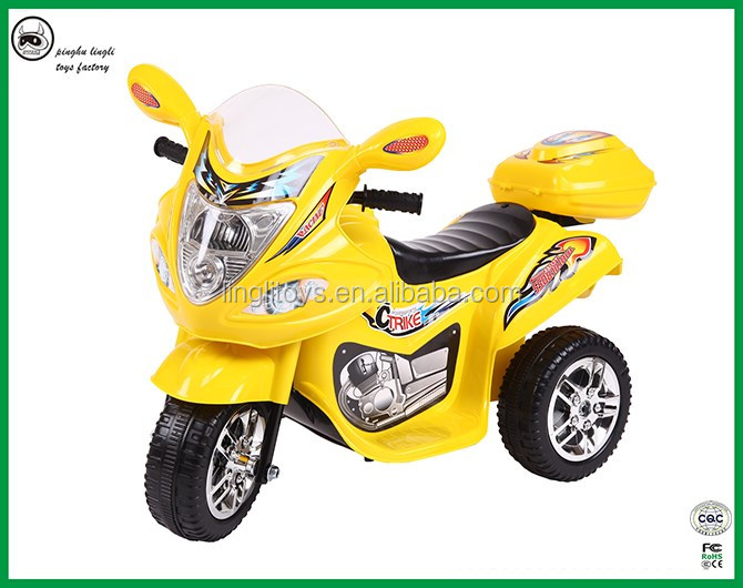 LL1188China manufacturer Colorful lights electric tricycle for baby ride on kids motorcycle