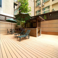 Wood Plastic Composite Flooring Tile,Outdoor Synthetic teak decking,UV resistant anti-slip swimming pool wood