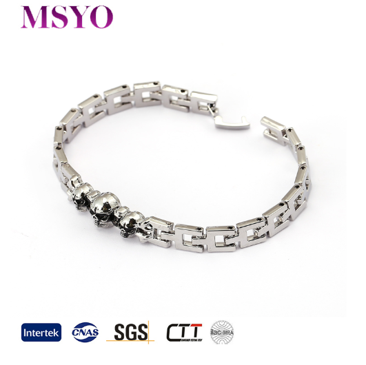 MSYO brand gold gold cuff mens solid bracelet plated wholesale skull japanese magnetic bracelet