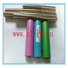 2mm*8mm round magnets for battery from flat top to button top NdFeb