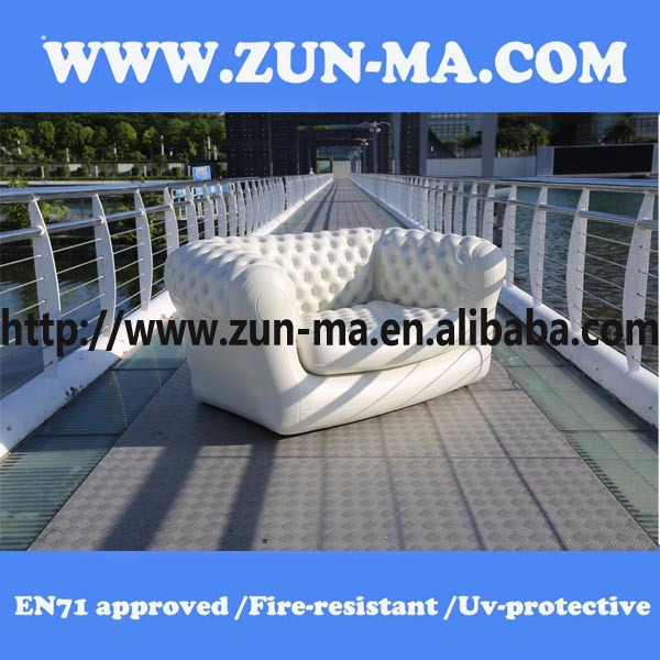 Customized Modern Appearance Living Room White Inflatable Sofa