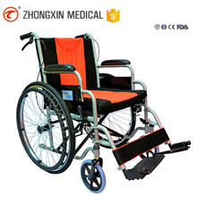 New style steel tube european style medical economy manual wheelchair