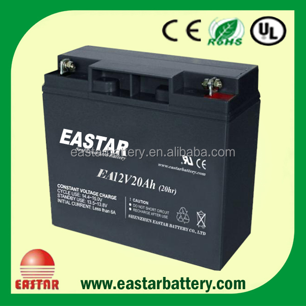 xxl power life 12v 20ah lead acid battery Made in China for emergency lights, UPS, Security system