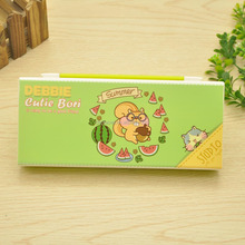 new design cute school pencil case hard plastic pencil box with buttons