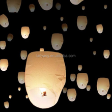 Wholesale Chinese Sky Lanterns Party Flying Wedding Wishing Lamp Fire Candle White Chinese paper lantern