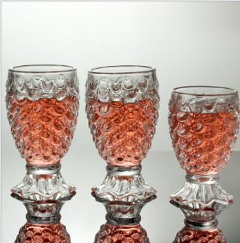 2017 Latest style Custom Crystal fancy giant glassware manufacturer clear diamond red wine glass cup for Bordeaux