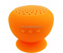 Facotry USB MIC Li-ion battery Silicone sucker waterproof wireless speaker