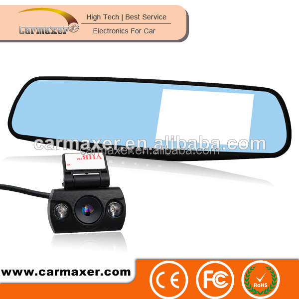 korea design super slim rearview mirror car black box