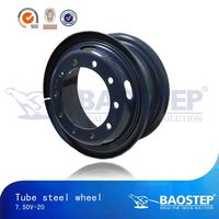 Tube steel wheel 7.50V-20 inch wheels