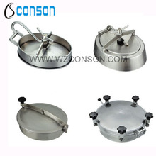 Stainless steel 304 or 316 sanitary round manhole cover