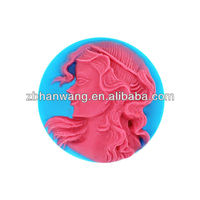 Nicole Figures and Fairy Handmade Silicone Rubber Soap Molds Figures Mold For Soap R1147