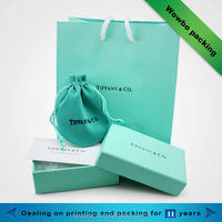 Various of fancy custom logo printed shopping paper bags with handles