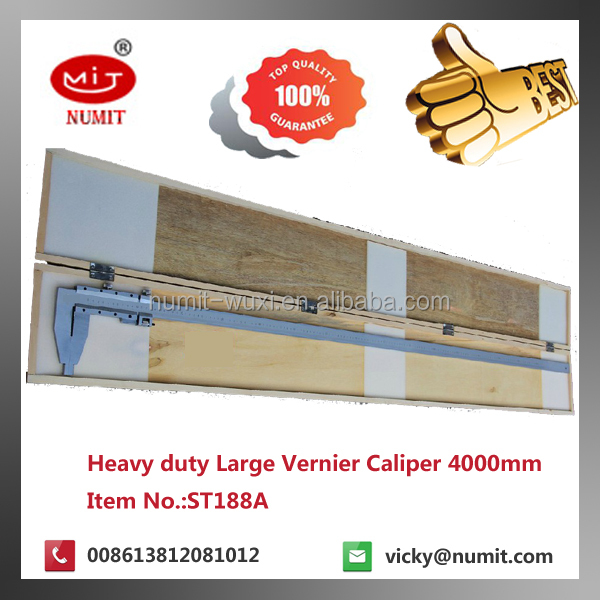 0-800mm x 0.05mm Stainless Steel Mechanical Mono-Block Vernier Caliper with 150mm claw ST188