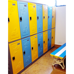 Customized plastic locker storage cabinet clothes box
