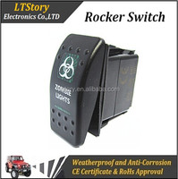 5 PINS DC 24V 12V LED LIGHT BAR Waterproof Marine Rocker switch
