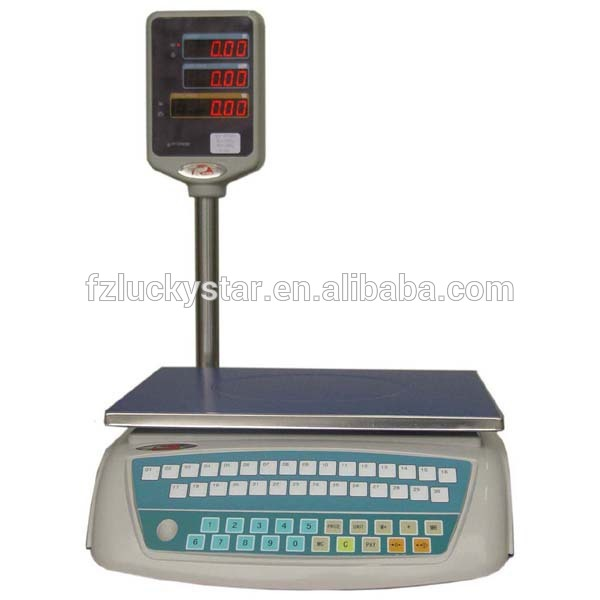 Large LCD LED Display ACS series Digital Price Computing Scale With Pole