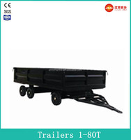 Factory Direct Mini 6 Wheel Flatbed semi trailers with Top Quality