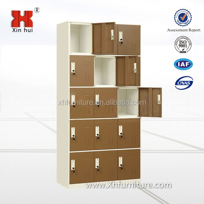 15 door metal wardrobe locker/steel wardrobe locker