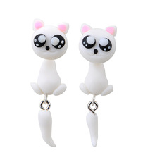 New Fashion Cute Lovely Handmade Animal Creative Unique Polymer Clay Soft Earrings Jewelry For Lady Girl