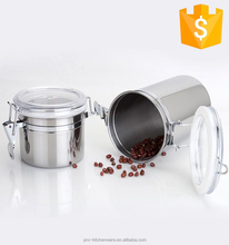 High Quality New Design 12OZ Airtight Coffee Bean Container Stainless Steel Coffee storage Coffee Canister